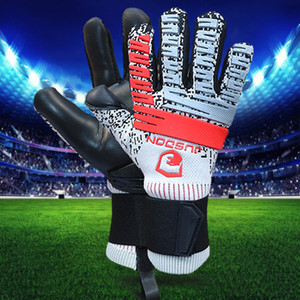 2019 JUSDON free shipping top quality competition training goalkeeper gloves soccer football gloves without fingersave 4MM latex zipper bag