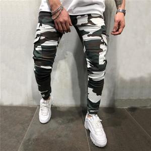2019 nouveaux pantalons de camouflage hommes pantalons de survêtement hip hop décontractés streetwear pantalons camo pantalon cargo maigres