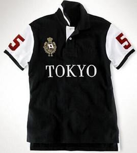 Chemises Polo homme grand cheval broderie Club City Drapeau Rome Paris Dubaï Londres Tokyo New York Los Angeles Miami Coton Sport T-shirt