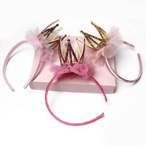 Sticks New Bling Crown meninas do laço do cabelo do bebê do desenhador designer de cabeça princesa headbands crianças headband do cabelo acessórios florais