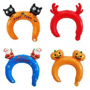 Alumínio Natal Film Halloween Headwear cabelo Hoop Balões Aranha Balloon Decoração Partido Bat adultos e crianças 0 25llH1 aniversário