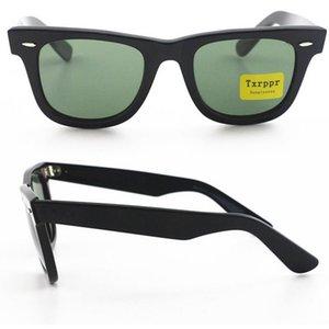 Top Quality stile occidentale Txrppr Occhiali da sole Uomo Classic Angolo Nero Plank 50mm Telaio UV400 occhiali da sole con Brown Box