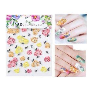Nail Art наклейка, 5D самоклеящейся Nail Art Decoration Sticker цветок серия DIY маникюрные Таблички инструмент, используемая для украшения ногтей