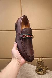 iduzi chaussures habillées pour hommes en cuir italien de luxe Nouveau design classique de soirée de mariage noir Brown hommes de la Taille 38-45 avec la boîte