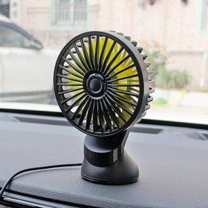 360 Derece Mini Elektrikli Ayarlanabilir All-Round Araba Oto Hava Fanı Emiş Kupası Düşük Gürültü Araba Oto Cooler Araç Fan Aksesuarları
