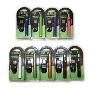 Vertex LO VV Battery Charger Kit E Cigarettes 350mAh LEI Pré-aqueça Baterias de tensão variável Vape Pen Fit Vape Cartridge