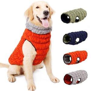 Brasão Dog Quente Outono Inverno Algodão Cães Roupa frente e verso Wearable Dog Pet Vest Jacket criativa Caterpillar estilo stretch LXL1029-1