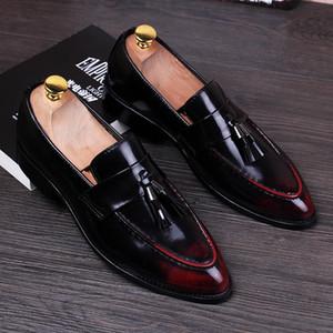 Stephoes 2019 Hommes Mode Derby Chaussures Homme Été Toe Bureau des affaires Pointu Party Dress Chaussures Epoux de mariage