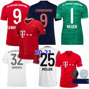 2019 2020 2021 Bayern Múnich Fútbol jerseys PAVARD NEUER MULLER Lewandowski THIAGO Aniversario 120 años de fútbol camisa 19 20 mujeres de los hombres 4xl