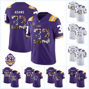 Печатные LSU Tigers 125-й 33 Джамал Адамс 34 Стеван Ридли 40 Герцог Райли 36 Коул Трейси 45 Дейон Джонс NCAA College Football Jersey