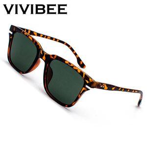 VİVİBEE leopar iliği polarize güneş gözlüğü erkekler Retro küçük kare kadın Güneş Glaases 2020 UV400 Yüksek Kalite sürüş Shades
