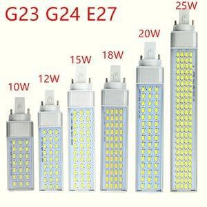 G23 G24 E27 bombillas LED 10w 12w 15w 18w 20w 25w SMD5730 llevó las luces 85 -265V Spotlight 180 grados de horizontal Plug Luz
