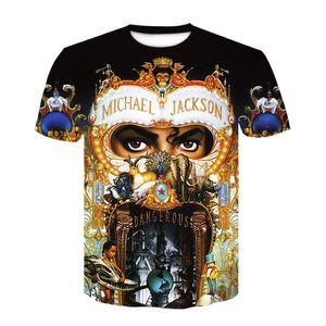 Neues beliebtes T-Shirt Michael-gefährliche Albumabdeckung Männer Frauen 3D-Druckbrief-Fashion Hip Hop Marke Fashion Tshirt Harajuku Größe M-4XL