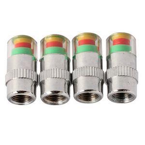 4pcs / Lot 3.2 Psi 2.2bar de presión automático del neumático del coche de aire del neumático de válvula del monitor Indicador de Alerta de vástago sensor Cap Diagnóstico Medidor de herramientas