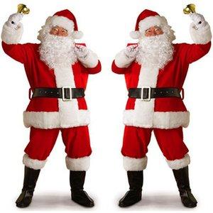 Christmas Christmas men's women's gold velvet clothing performance clothing Santa Claus costume