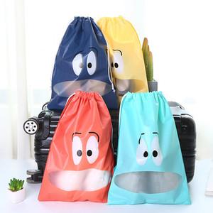 10pcs / lot portátil impermeável bolsa de viagem Mala Sapatos Roupa interior Viagem armazenamento de saco organizador roupa Embalagem com cordão Bag
