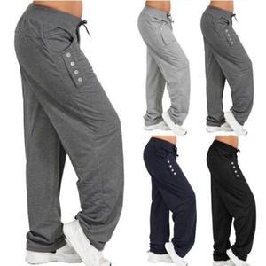 4 Renkler Lady Casual İlkbahar Sonbahar Pantolon Katı Elastik Bel Pamuk Keten Pantolon Ayak Bileği Uzunluk Haren Pantolon Analık Dipleri CCA11301 20 adet