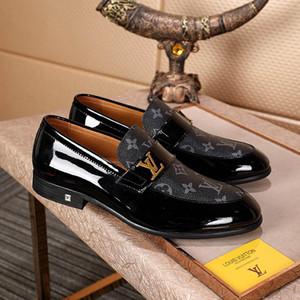 Neue Männer Luxus Monte Carlo Entwerferkleidschuhe Schwarz Braun Lattice Leder-beiläufige Loafers Männer Beleg auf Spitz Oxford-Schuhe mit Box