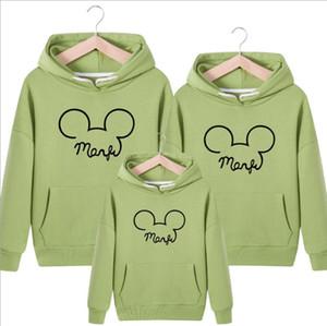 Mon Dad Kid Luxus Hoodie Maus-Marken-Kleidung Herbst-Winter-Männer Designer Hoodie Liebe Eltern Kind Männer Hoode Pullover Kinder Frauen Hoodie -