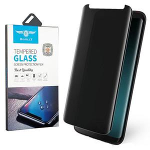 Privacy vetro temperato curvo 3D 9H caso friendly per Samsung Galaxy Note 9 8 S8 S9 Plus Anti Spy Peeping Film Screen Protector