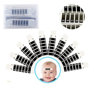 DHL На складе Детские Лоб Глава Strip тела Лихорадка термометр Безопасность детей Baby Care Термометр младенца Feverscan