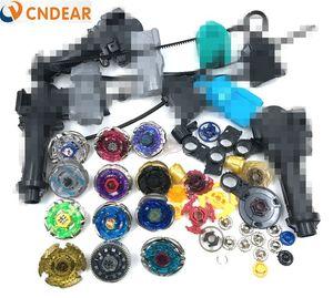 Beyblade Metal Fusion 4D Freies filatore superiore (12 top spin + 6 lanciagranate +3 prese + più di 30 pezzi di ricambio) giocattoli per bambini Y200109