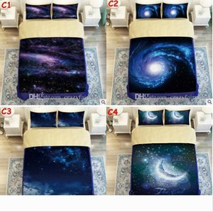 3D Galaxy Printed Child Christmas Bedding Sets Europe Type Style Duvet Covers for King Size Bedding Duvet Cover Pillow Cover Pillowcase