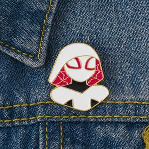 Deadpool Araignée Gwen douce émail Marvel Hero Brooches Pins pour les vêtements chemise Sac Chapeau Badge Anime Bijoux cadeau pour les amis d'enfants