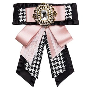 New Entwurf Bowknot Brosche Diamant Multi-Layer-Satin-Bogen Brosche weiblichen Mode-Brosche Frauen Tuch Zubehör Schmucksachen Verschiffen frei
