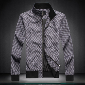 2020 Men's Spring New Products Retro Aviator Jacket Men's Harajuku Plaid Baseball Jacket Men's Casual Fashion Japanese Street Clothing Small