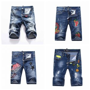 2019 été Mode Hommes Jeans De Designer Léger Jeans Shorts Casual Solide Classique Droite Denim Hommes Jeans DSQ4
