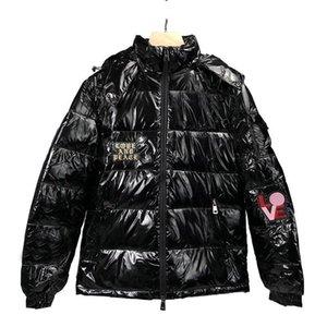 Luxo Mens Designer Down Jacket alta qualidade Homens Mulheres Winter Parka Hip Hop Mens Desigenr inverno casacos pretos