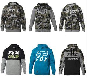 FOX yeni off-road binici motosiklet yarış takım elbise yokuş aşağı dağ bisikleti sürme kamuflaj polar sıcak kazak