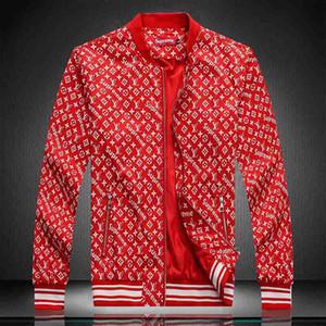 Fashion Designer jaqueta corta-vento de manga longa Mens Jackets Hoodie Vestuário Zipper com letra animal Padrão Plus Size Clothes M-3XL # 888