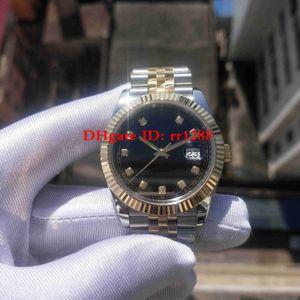 TOP Qualität BP Factory V2 New Armband 126333 Bicolor JUBILEE BRACELET DATEJUST DATE Schwarzes Zifferblatt Saphirglas 41mm Herrenuhren Armbanduhren