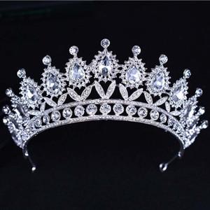 2019 New Baroque Crown Strass wulstige Stirnband Tiara Braut Hochzeit koreanischer Haarschmuck für Frauen