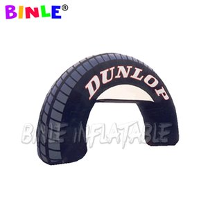 Outdoor racing competition tyre shape inflatable arch   inflatable tire archway start finish line for sports advertising