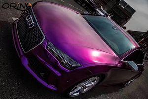 Luxury Ultra Glossy Metal Purple Gloss Película de vinilo Metálico Película de vinilo para papel de aluminio con burbujas de aire gratis 1.52 * 20 m / roll 5x65ft