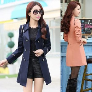 Trench Special Offer Double-breasted Feminino Female Windbreaker Long Size All -Match Korean Women 'S A Slim Coat 1007