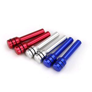 2019 Nuova lega di alluminio Car Door Lock Knob Pins argento / blu / rosso / nero Car Door Lock Button Pin manopola vite universale