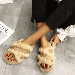 Hot Sale- slides women Women Warm Cross Soft Comfort Plush Soft Slippers Indoors home slippers Floor Bed Room Shoes
