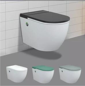 توفير المياه الذكية مرحاض ذكي المراحيض P-فخ جدار الذكية السيراميك معلقة المرحاض شنت
