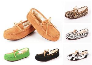 design de impressão New Classic Leopard Austrália US GS baixo inverno quente sapatos botas de couro real bowknot neve lazer botas femininas sapatos 35-42