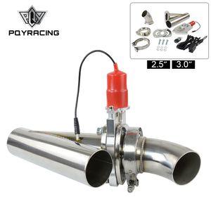 PQY - 2,5 ou 3,0 pouces ECHAPPEMENT CUTOUT REMOTE CONTROL ELECTRIC DUMP Y-TUBE Catback CAT RETOUR TURBO BYPASS PQY5295
