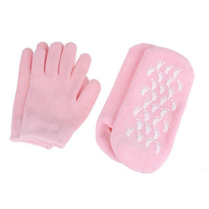 Silicone Sock Glove Reusable SPA Gel Moisturizing Socks Gloves Whitening Exfoliating Treatment Smooth Beauty Hand Mask Feet Care EEA1648
