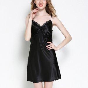 Newest 2019 Spring Summer Women Sexy Fashion Nightdress Lingerie Sleeveless Sleepdress Sexy Pajamas