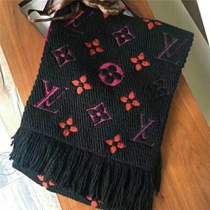 lettera uomini di modo e femminile all'ingrosso di lana stampata Nappa di spessore scialle sciarpa vendita calda classica 180 * 30 donne autunno inverno cicatrice termica