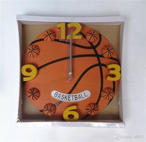 Basketball Horloge murale Big Football Décore Horloges Salon Chambre Fournitures Accueil Circulaire Mute Creative Batterie Hot Sales 23xyC1