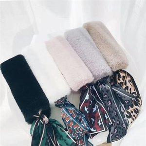 2018 Winter neu lanciert Luxus Schal Mode Kunstpelz Seidenschal Multi-Color-Großhandel