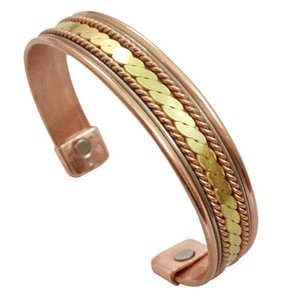 Pure Copper Magnetic Energy Bracelet for Women Mens Pain Relief Arthritis Therapy Copper Magnets Bracelets & Bangles Health